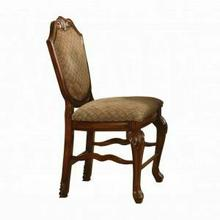 ACME Chateau De Ville Counter Height Chair (Set-2) - 04084 - Fabric & Cherry