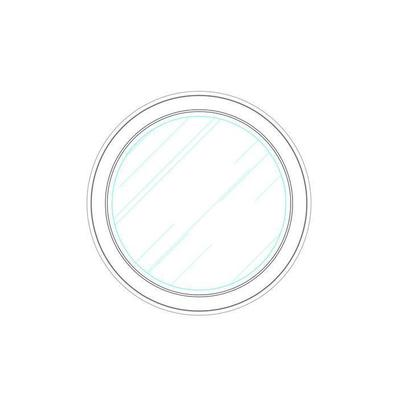 Horizon Round Mirror - Flannel
