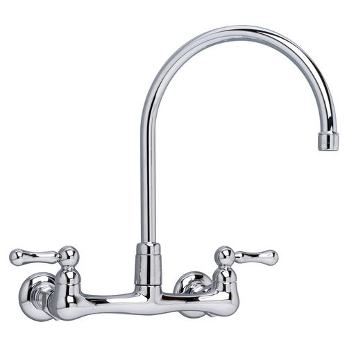 American Standard - Heritage Wall-Mounted Gooseneck Faucet - Polished Chrome