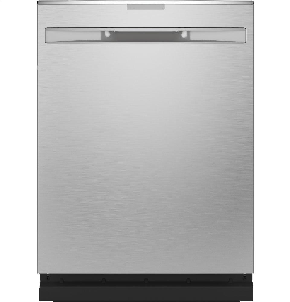 GE ProfileFingerprint Resistant Top Control With Stainless Steel Interior Dishwasher With Sanitize Cycle & Dry Boost With Fan Assist