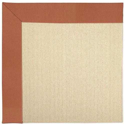"Creative Concepts-Beach Sisal Canvas Persimmon - Rectangle - 24"" x 36"""