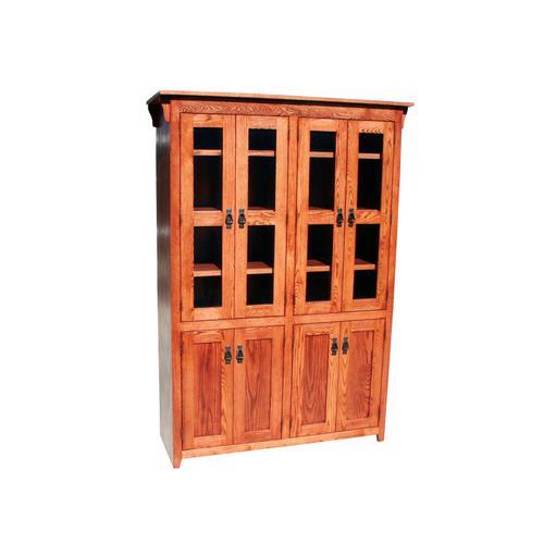 "Mission Oak 48"" 8-Door Bookcase"