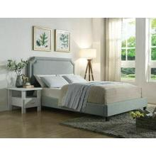 ACME Amias Queen Bed - 26480Q - Aqua Linen