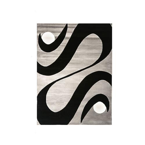 """Furniture of America - Aisling 5' 3"""" X 4"""" Black & Gray Area Rug"""