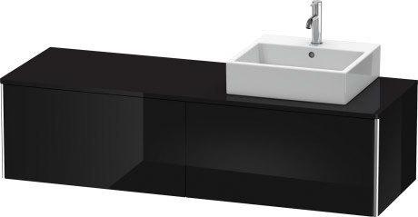 Product Image - Vanity Unit For Console Wall-mounted, Black High Gloss (lacquer)