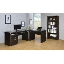 See Details - Skylar Contemporary Cappuccino Desk