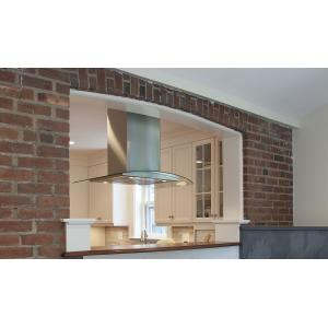 """Faber36"""" glass island hood with Variable Air Management"""