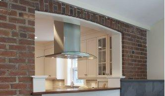 """36"""" glass island hood with Variable Air Management"""