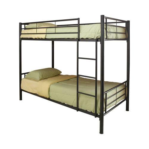 Denley Black Metal Twin-over-twin Bunk Bed
