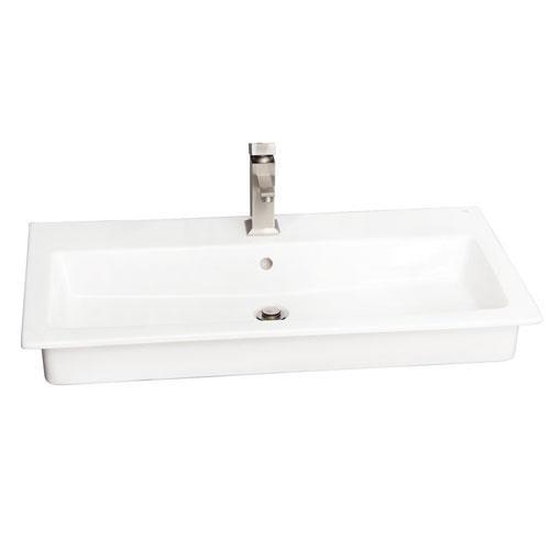 "Harmony 35"" Drop-In Wash Basin - 8"" Widespread"