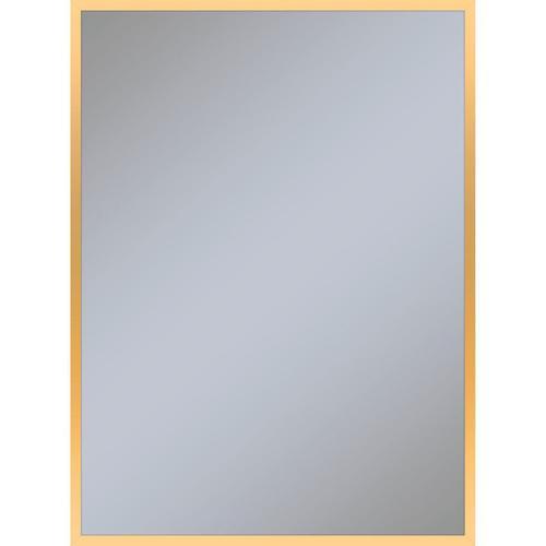 "Profiles 29-1/8"" X 39-1/4"" X 3/4"" Framed Mirror In Matte Gold"
