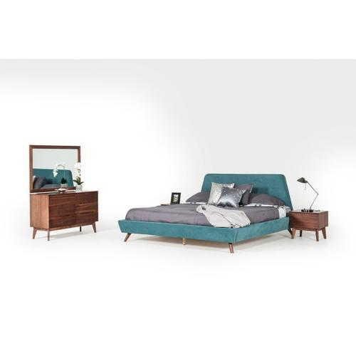 VIG Furniture - Modrest Lewis Mid-Century Modern Walnut Mirror