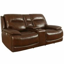 See Details - COLOSSUS - NAPOLI BROWN Power Console Loveseat