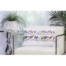 "Outdoor Pillows L1159 White 14"" X 24"" Throw Pillow"