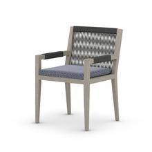 Faye Navy Cover Sherwood Outdoor Dining Armchair, Weathered Grey