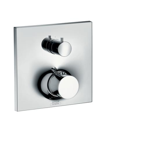 Brushed Bronze Thermostat for concealed installation with shut-off/ diverter valve