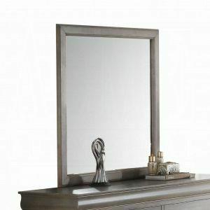 ACME Louis Philippe III Mirror - 25504 - Antique Gray