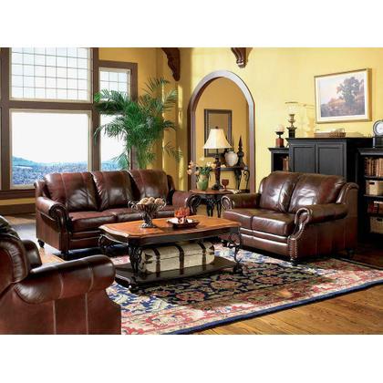 See Details - Princeton Traditional Burgundy Sofa