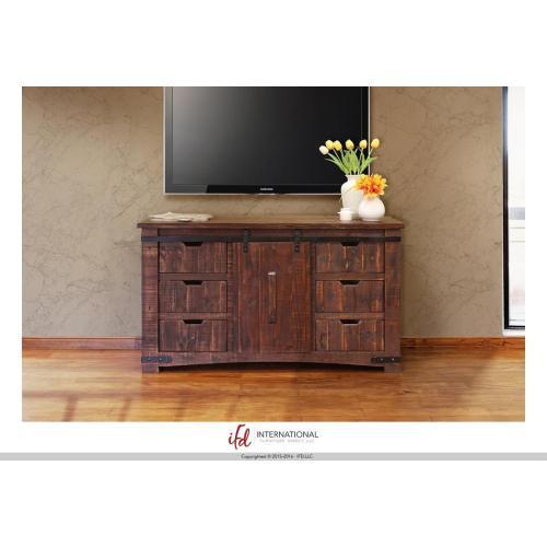 """Gallery - 60"""" TV Stand w/6 Drawer, 1 door w/2 shelves"""