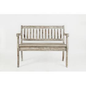 See Details - Artisan's Craft Storage Bench - Washed Grey