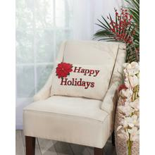 "Home for the Holiday L1429 Natural 12"" X 20"" Throw Pillow"