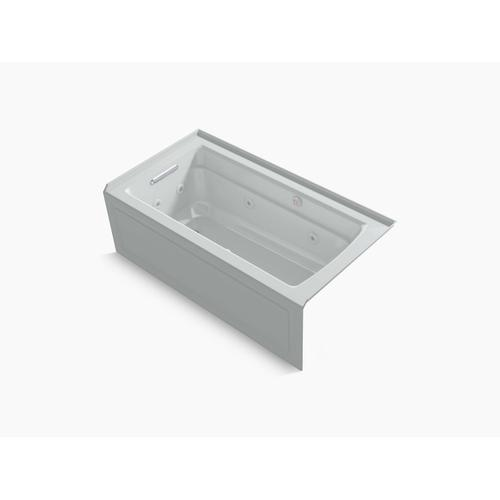 """Ice Grey 60"""" X 32"""" Integral Apron Whirlpool + Heated Bubblemassage Air Bath With Left-hand Drain"""
