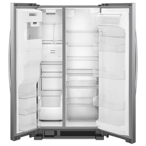 Whirlpool - 36-inch Wide Side-by-Side Refrigerator - 25 cu. ft. Fingerprint Resistant Stainless Steel