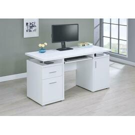 See Details - Contemporary White Computer Desk