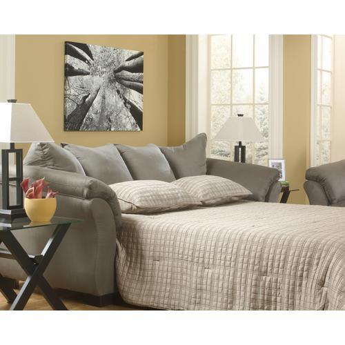 Signature Design By Ashley - 7500536 Darcy Cobblestone Full Sofa Sleeper