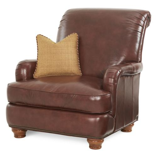 Leather/fabric Club Chair