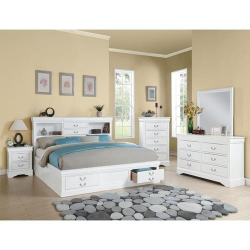 WH L.PIII CAL KING STORAGE BED