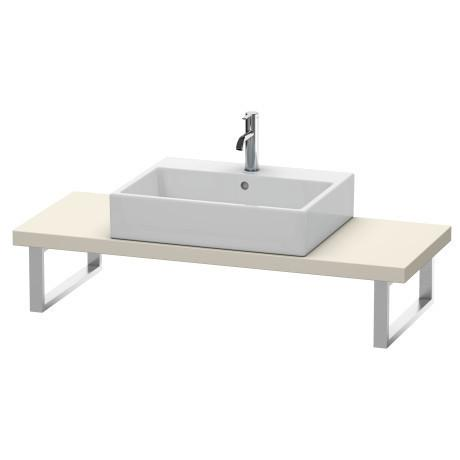 Duravit - Console For Above-counter Basin And Vanity Basin Compact, Taupe Matte (decor)