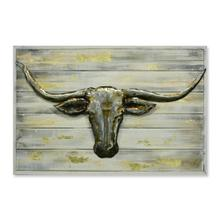 Longhorn Luxe 20x30 Metal and Wood Wall Art