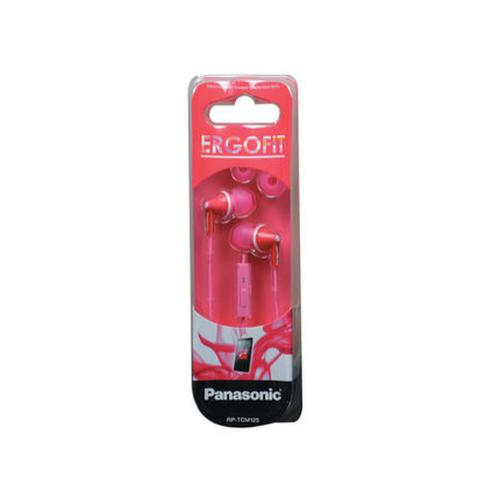 ErgoFit In-Ear Earbud Headphones with Mic + Controller - Pink - RP-TCM125-P