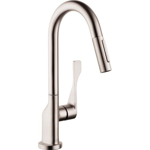 AXOR - Steel Optic Prep Kitchen Faucet 2-Spray Pull-Down, 1.75 GPM