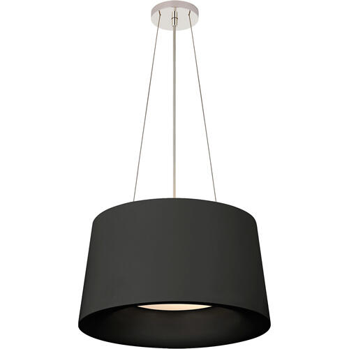 Barbara Barry Halo 2 Light 19 inch Matte Black Hanging Shade Ceiling Light, Small