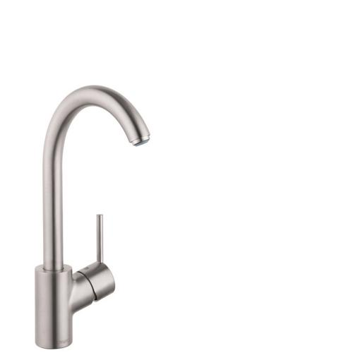 Steel Optic Kitchen Faucet, 1-Spray, 1.5 GPM