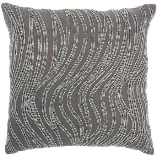 "Luminescence E1569 Grey 18"" X 18"" Throw Pillow"