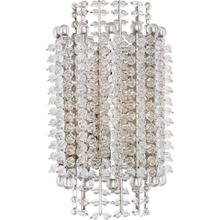 AERIN Serafina 1 Light 8 inch Polished Nickel Tiered Sconce Wall Light, Small