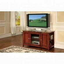 """ACME Finely TV Stand - 91000 - Faux Marble & Cherry for Flat Screens TVs up to 60"""""""