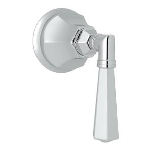 Palladian Trim for Volume Controls and Diverters - Polished Chrome with Metal Lever Handle