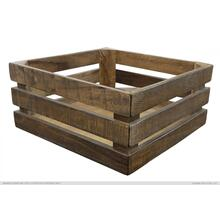 Wood crate Natural Brown Finish