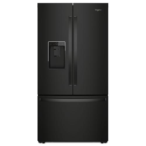 Whirlpool - 36-inch Wide Counter Depth French Door Refrigerator - 24 cu. ft. Black