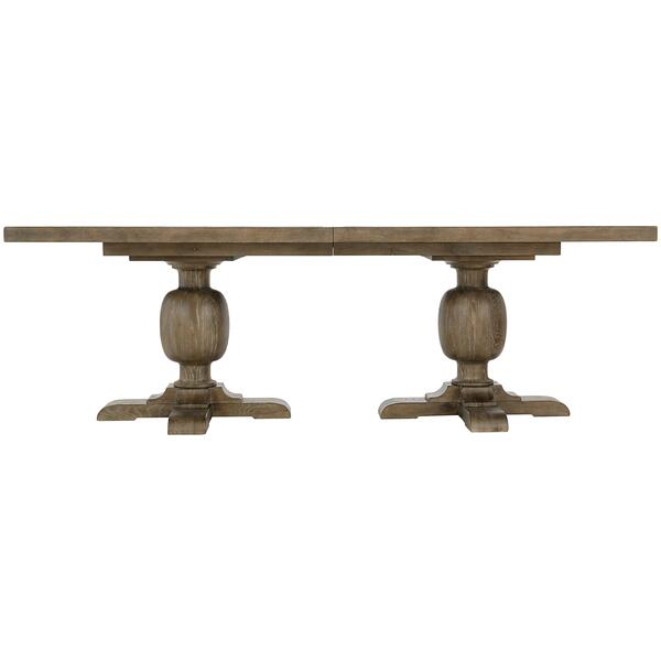 See Details - Rustic Patina Rectangular Dining Table in Peppercorn (387)