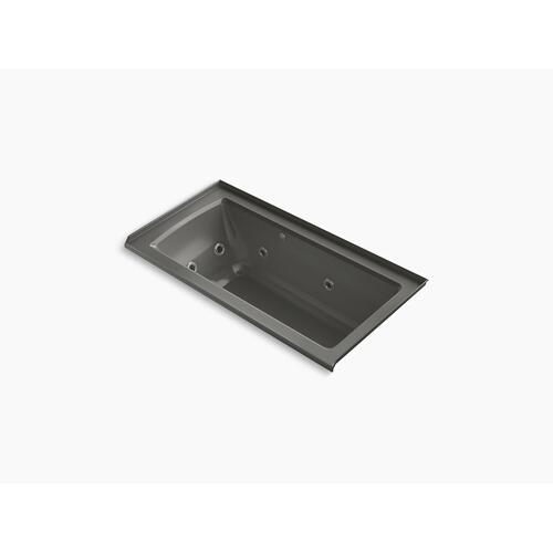 """Thunder Grey 60"""" X 30"""" Integral Flange Whirlpool + Heated Bubblemassage Air Bath With Right-hand Drain"""