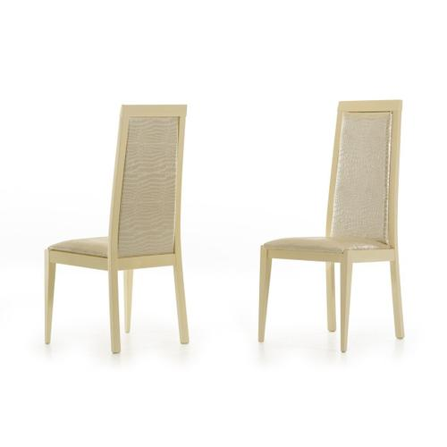 Modrest Ancona Modern Beige Crocodile Eco-Leather Dining Chair (Set of 2)