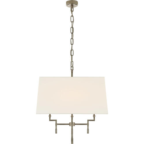 Alexa Hampton Jane 4 Light 24 inch Antique Nickel Hanging Shade Ceiling Light, Medium