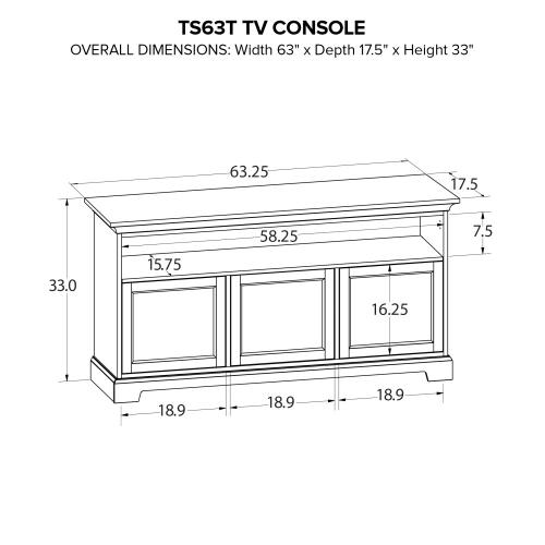 TS63T Custom TV Console