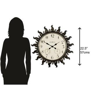 See Details - Howard Miller Sunburst II Oversized Wall Clock 625543