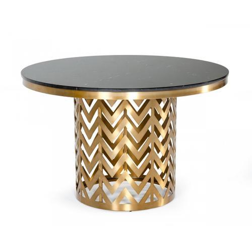 VIG Furniture - Modrest Kowal - Glam Black Marble Dining Table